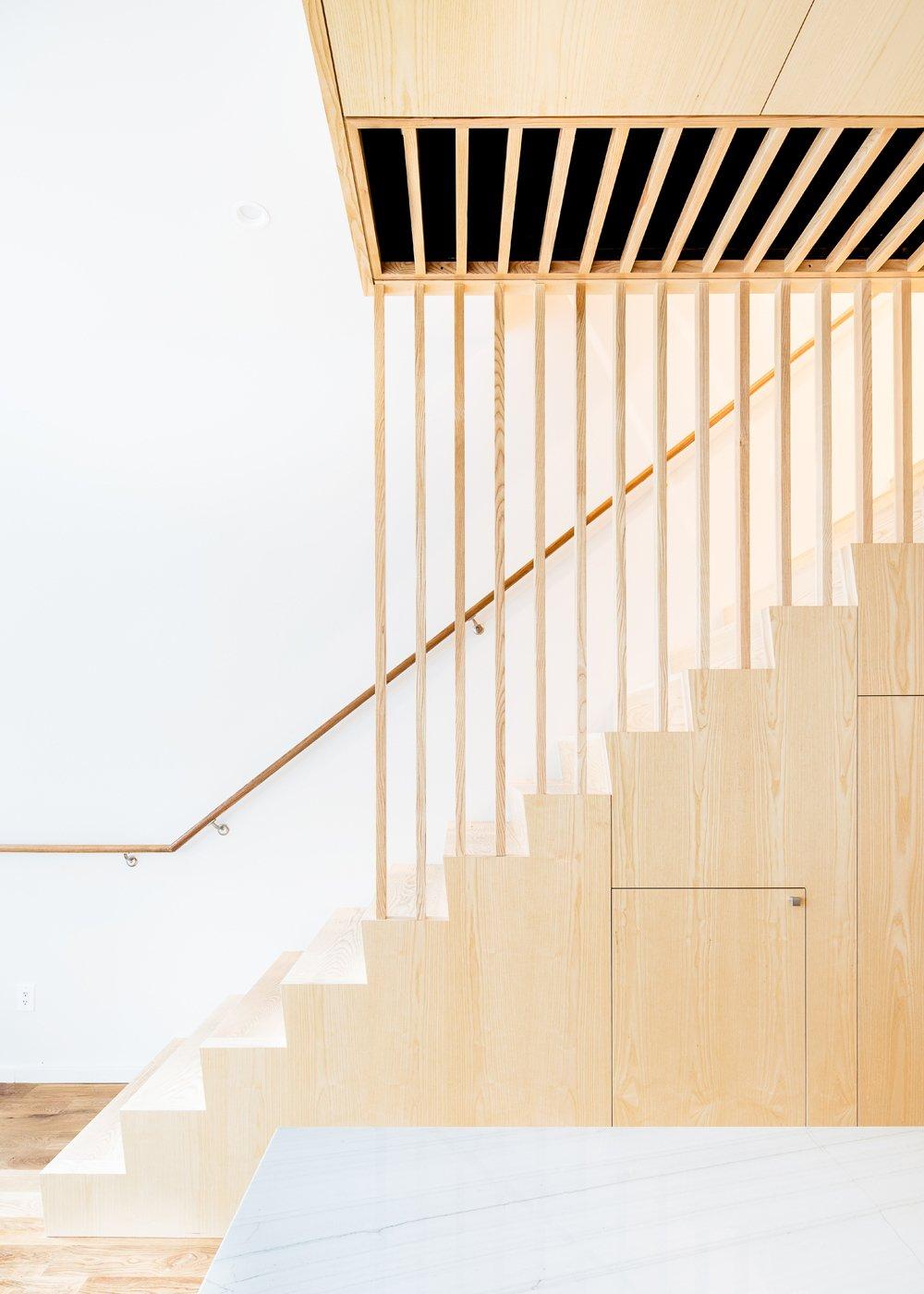 Staircase, Wood Tread, and Wood Railing  Wayne Street Row House by Jeff Jordan Architects