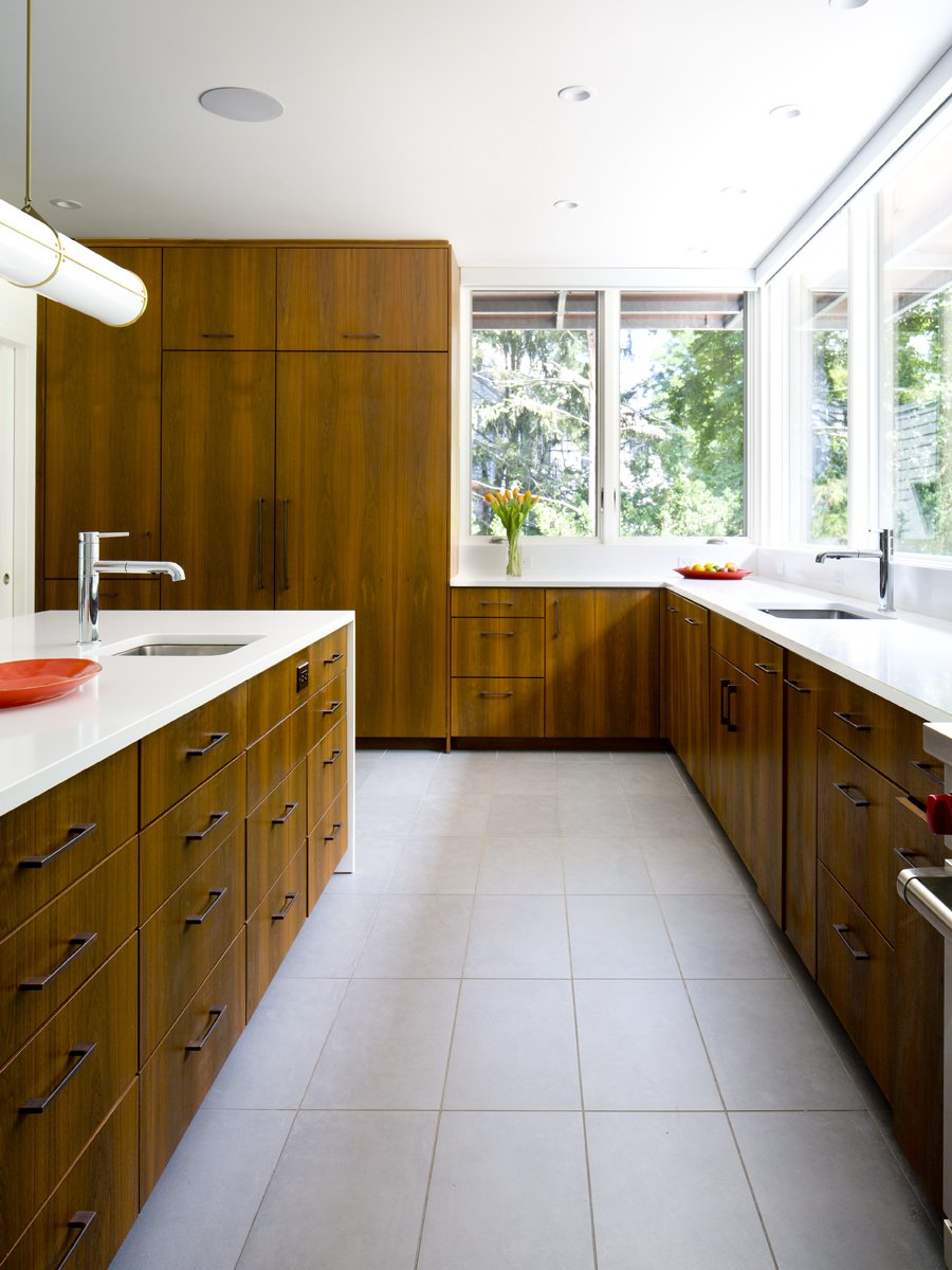 Kitchen and Wood Counter  Pelham House by Jeff Jordan Architects