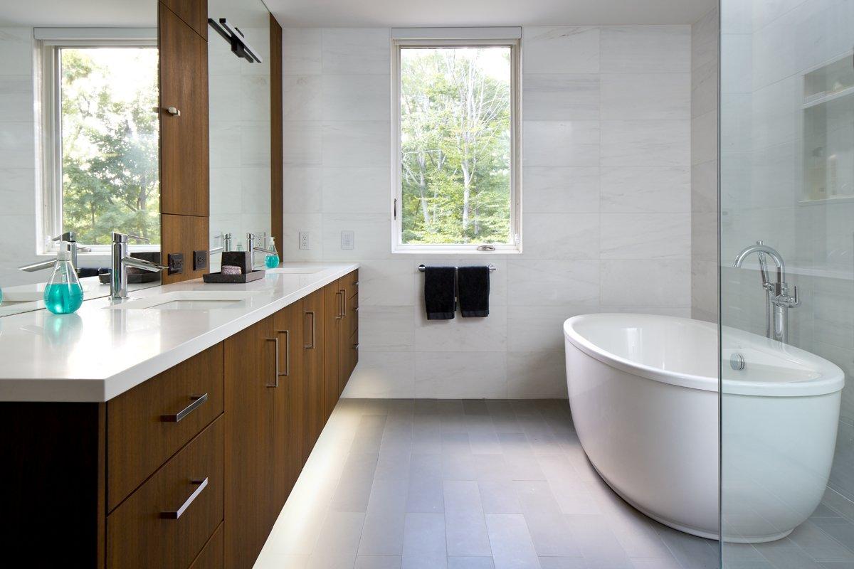 Bath Room and Freestanding Tub  Pelham House by Jeff Jordan Architects