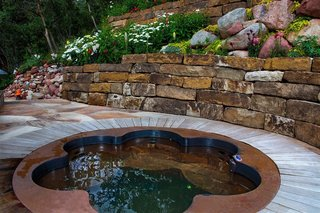 10 Modern Hot Tubs - Photo 10 of 10 - Copper Flower Shaped Hot Tub with 6 Bucket Seats by Diamond Spas