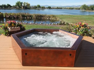 10 Modern Hot Tubs - Photo 6 of 10 - Copper Above Ground Hot Tub by Diamond Spas