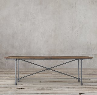 Restoration Hardware Flatiron Rectangular Dining Table ($895)