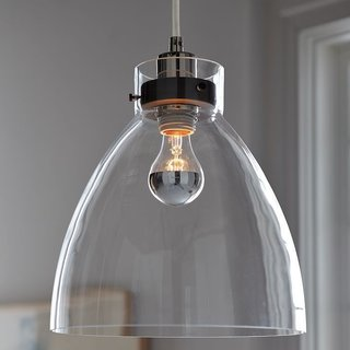 West Elm Industrial Glass Pendant ($99)