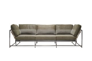 Stephen Kenn + Long Journey Olive Sofa ($11000)