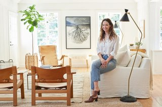 Inside Jenni Kayne's Stunning Living Room Makeover - Photo 1 of 20 -
