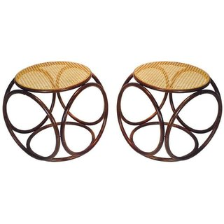 """Thonet Pair of """"Bentwood Stools"""" ($1450)"""