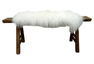 """Tammy Price of Fragments Identity """"Shandong Bench With Tibetan Lambswool"""" ($1695)"""
