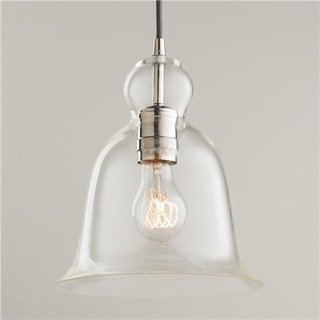 "Shades of Light ""Bell Curve Glass Pendant Light"", $98"