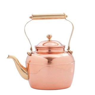 "Old Dutch ""Solid Copper Tea Kettle with Brass Handle"", $110"