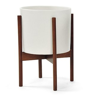 "Modernica ""Case Study Ceramic Planter with Wood Stand"", $149"