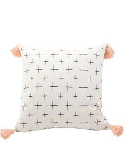 "Little Market ""Gaia Ikat Tassel Pillow"", $155"