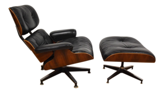 Eames Rosewood Lounge Chair and Ottoman ($4900)