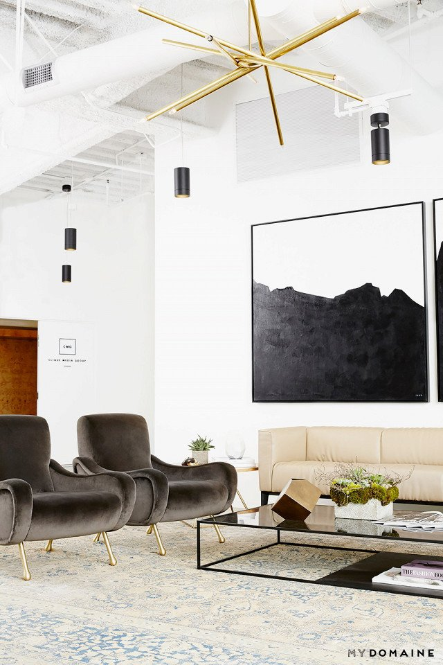 Photo: Chris Patey for MyDomaine; Styling: Wayfair  Photo 4 of 26 in Inside Our Striking MyDomaine Office in Los Angeles