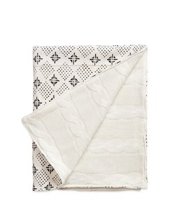 Erin Featherston Tribal Mud Cloth & Cable Knit Baby Blanket ($215)