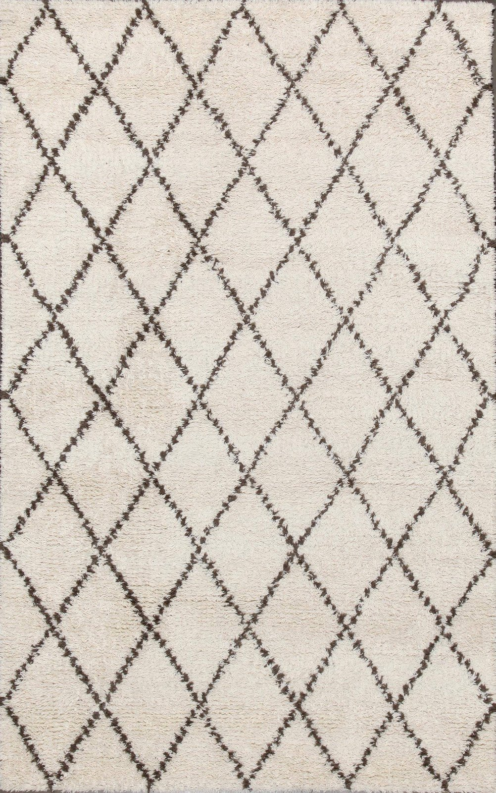 Rugsville Moroccan Beni Ourain Ivory 10996 Wool Rug ($845)  Photo 4 of 19 in This Is How an Aussie Model Decorates a Family Home—and It's So Cool