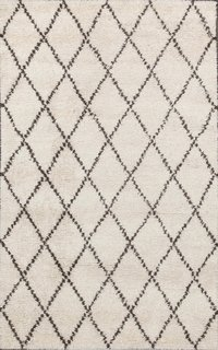 Rugsville Moroccan Beni Ourain Ivory 10996 Wool Rug ($845)