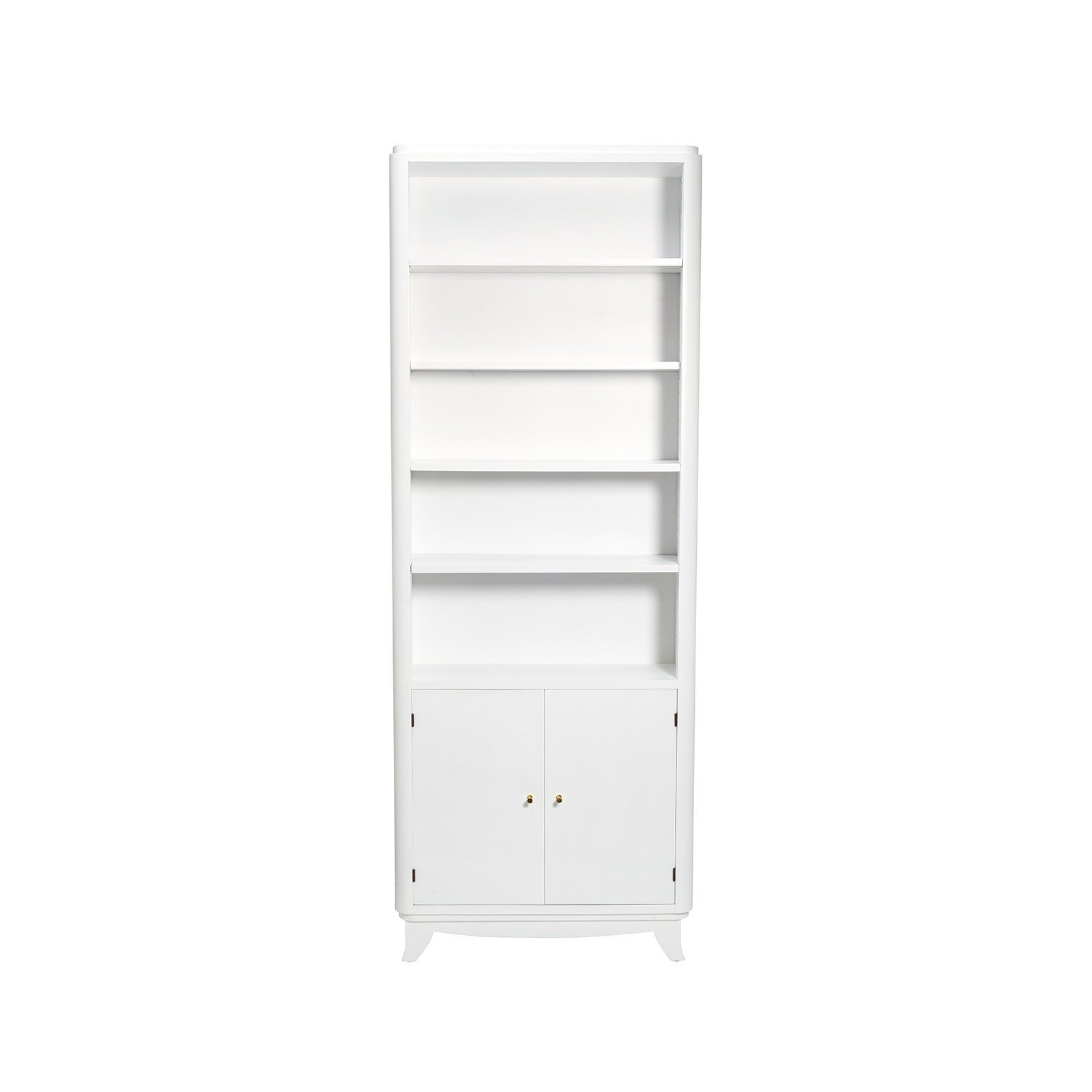 Consort Narrow White Wooden Bookshelf ($3500)  Photo 6 of 18 in 9 Home Libraries We All Want to Curl Up in This Weekend