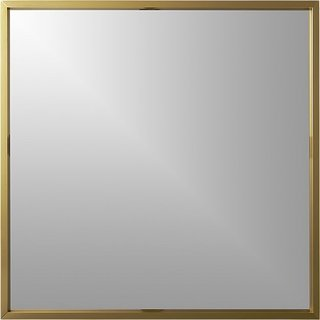 CB2 Gallery Brass 33-inch Square Wall Mirror ($149)