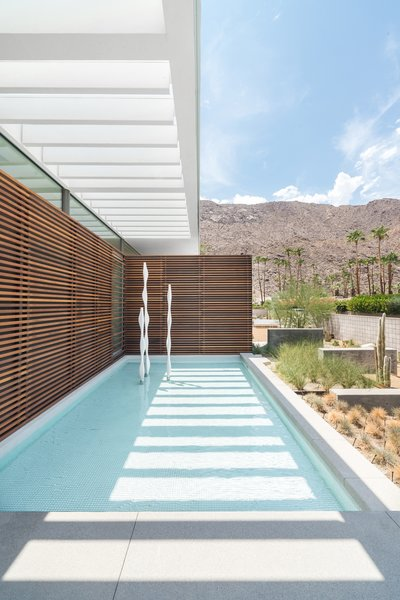 Modern House Landscape from Palm Springs Residence