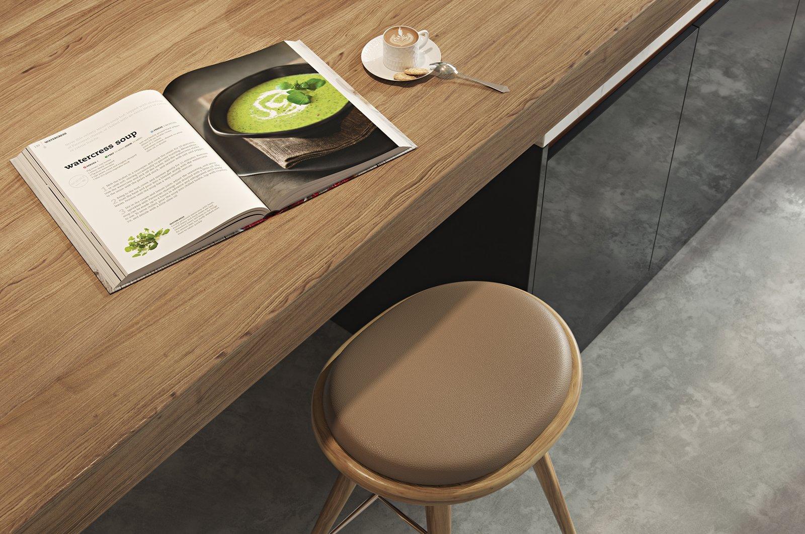 Kitchen, Concrete Floor, and Laminate Cabinet  Kitchen//Extension by Mitaka DImov