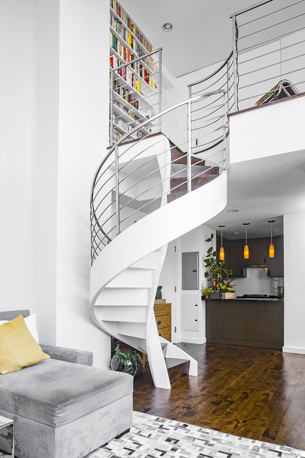 Staircase, Metal Tread, and Metal Railing  Heavy Metal by James Wagman Architect