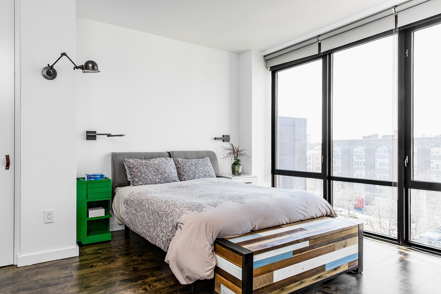 Bedroom, Bed, and Wall Lighting  Heavy Metal by James Wagman Architect
