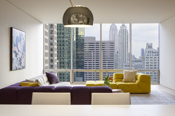Living Room and Sectional  A Pop of Color by James Wagman Architect