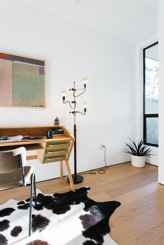 Office, Chair, Desk, Study Room Type, and Medium Hardwood Floor Den  Tilt-Shift House by ANX / Aaron Neubert Architects