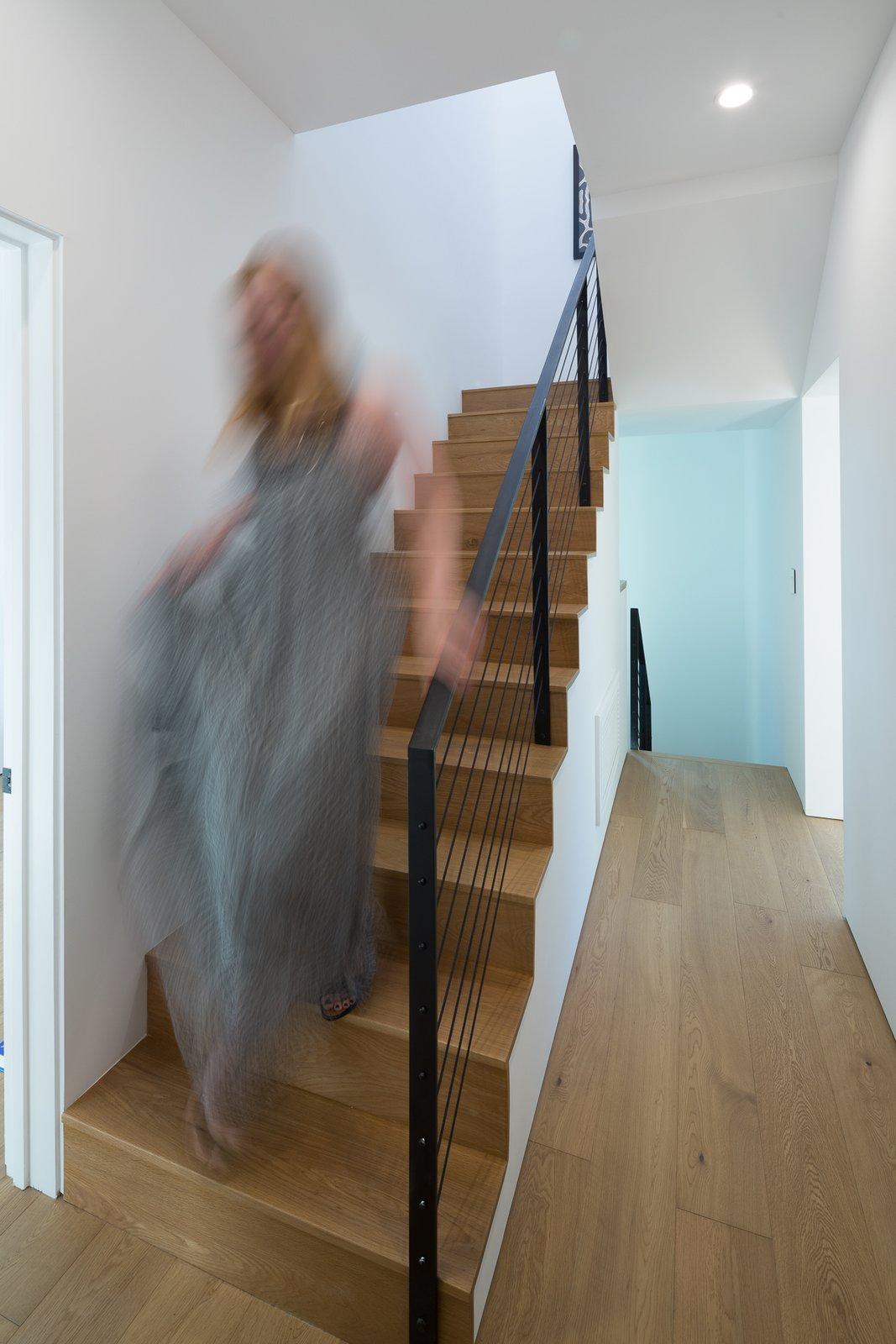 Living Room and Light Hardwood Floor Stair  Tilt-Shift House by ANX / Aaron Neubert Architects
