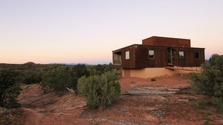 The Weezero Weehouse by Alchemy blends into the copper hues of Moab, Utah.