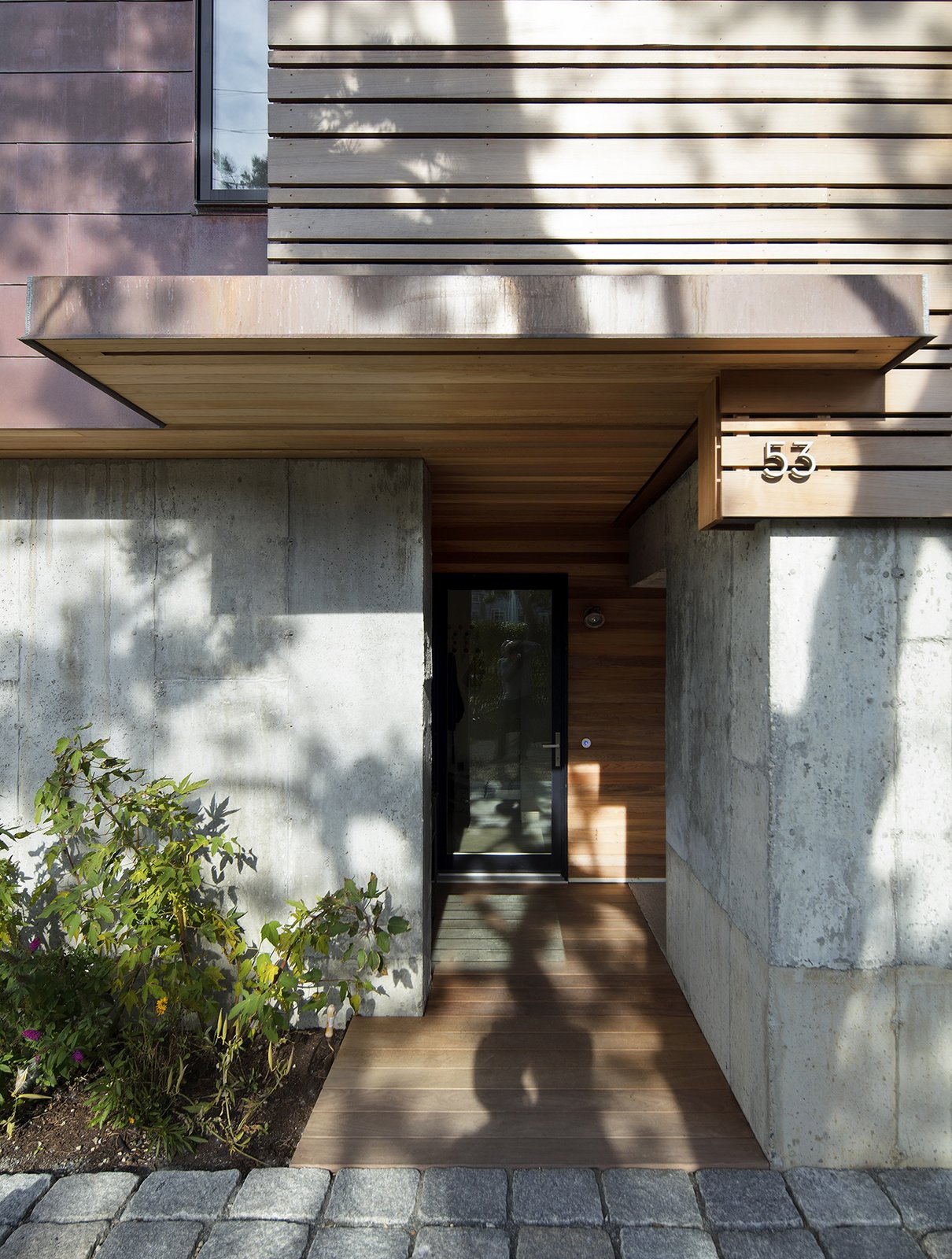 Exterior, Concrete Siding Material, Metal Siding Material, and Wood Siding Material  Gap Cove House by Ruhl Studio Architects