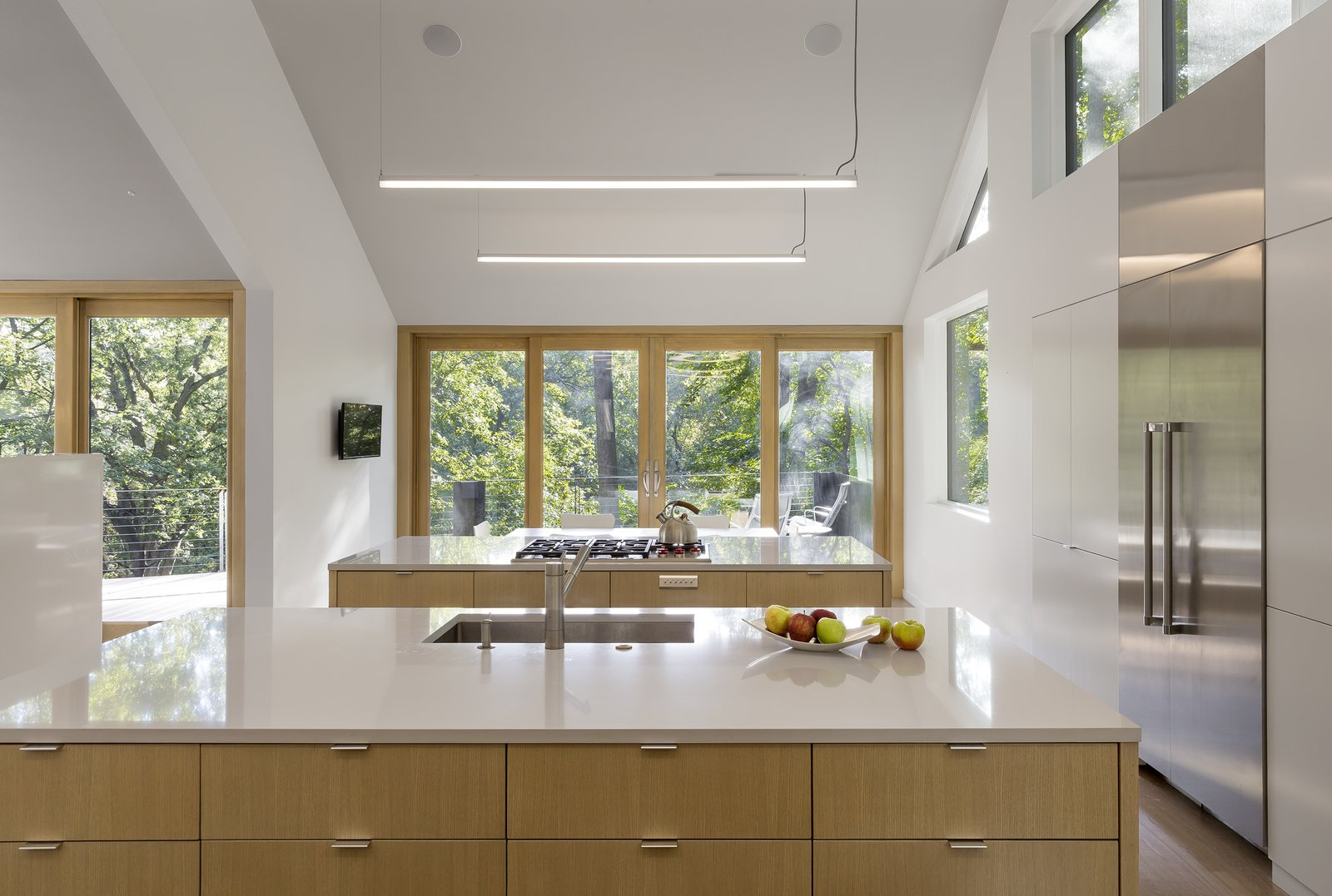 Kitchen, Wood Cabinet, and White Cabinet  3LP Residence by Substance Architecture
