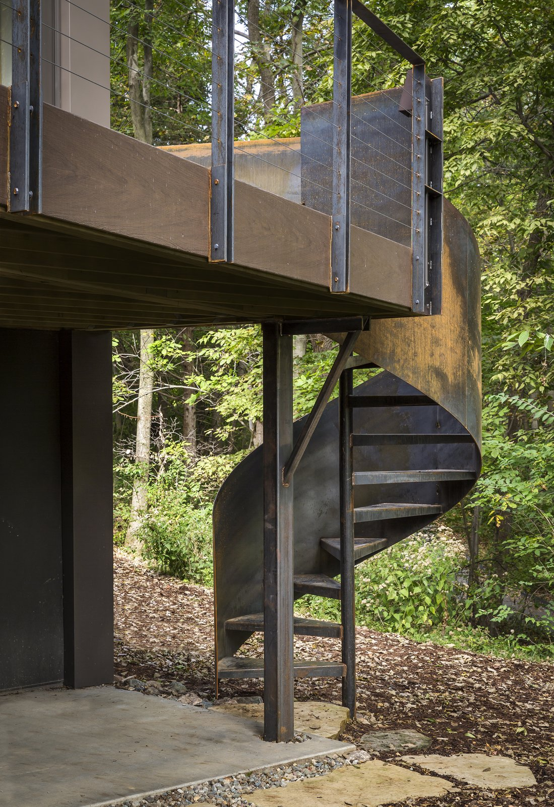 Staircase, Metal Railing, and Metal Tread  3LP Residence by Substance Architecture