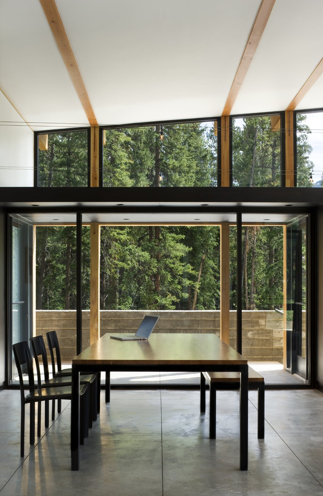 Dining Room, Table, Chair, and Concrete Floor  Weigel Residence by Substance Architecture