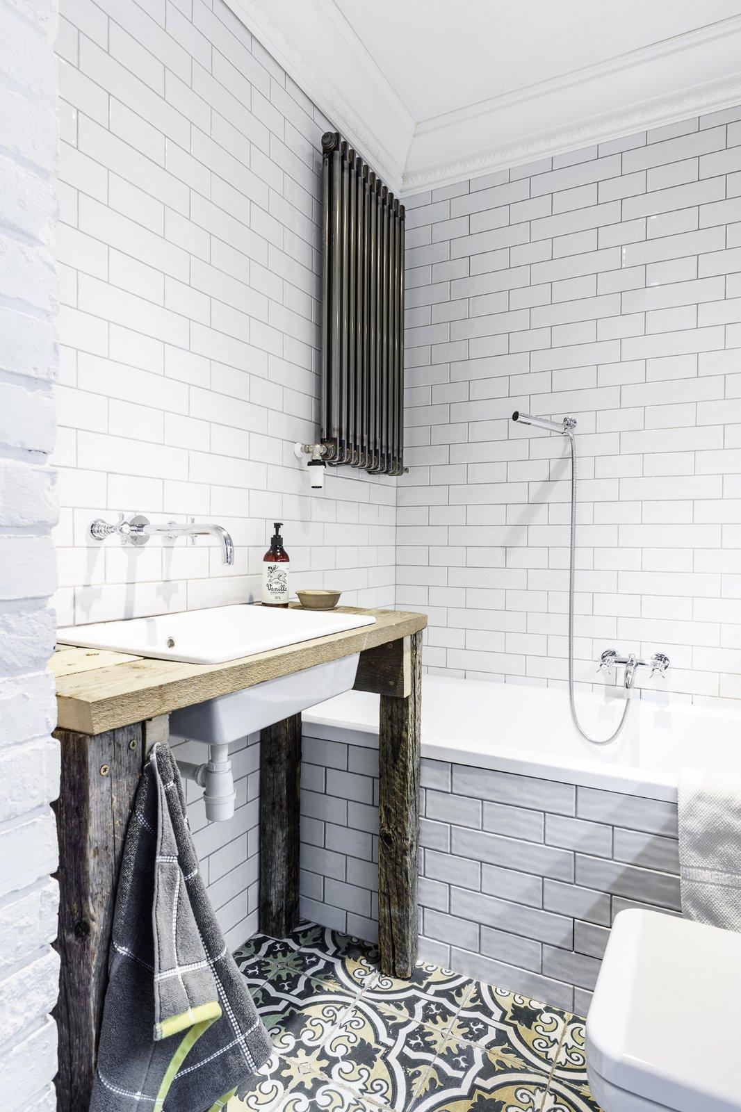 Bath, Pedestal, Soaking, Wood, Drop In, Subway Tile, and Ceramic Tile  Best Bath Drop In Soaking Ceramic Tile Photos from Loft in Poland