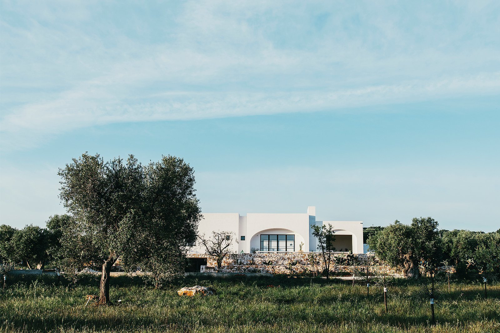 Exterior, House Building Type, Flat RoofLine, and Concrete Siding Material  Masseria Moroseta