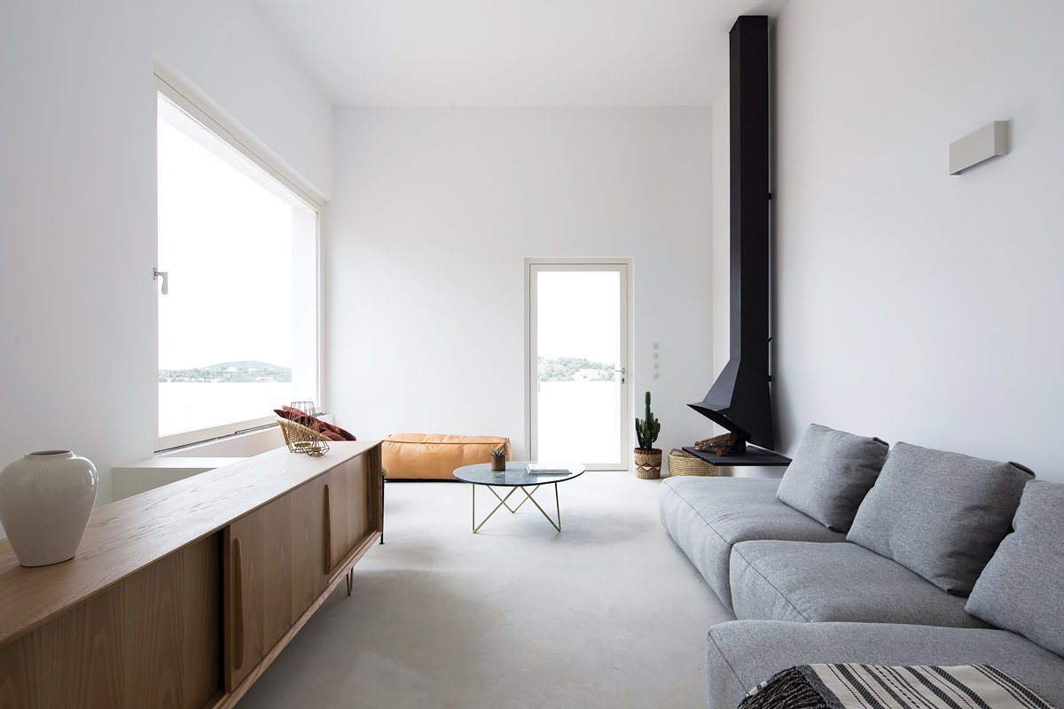 Living, Hanging, Wall, Sofa, Console Tables, Coffee Tables, Concrete, and Chair  Best Living Sofa Hanging Photos from Casa Luum