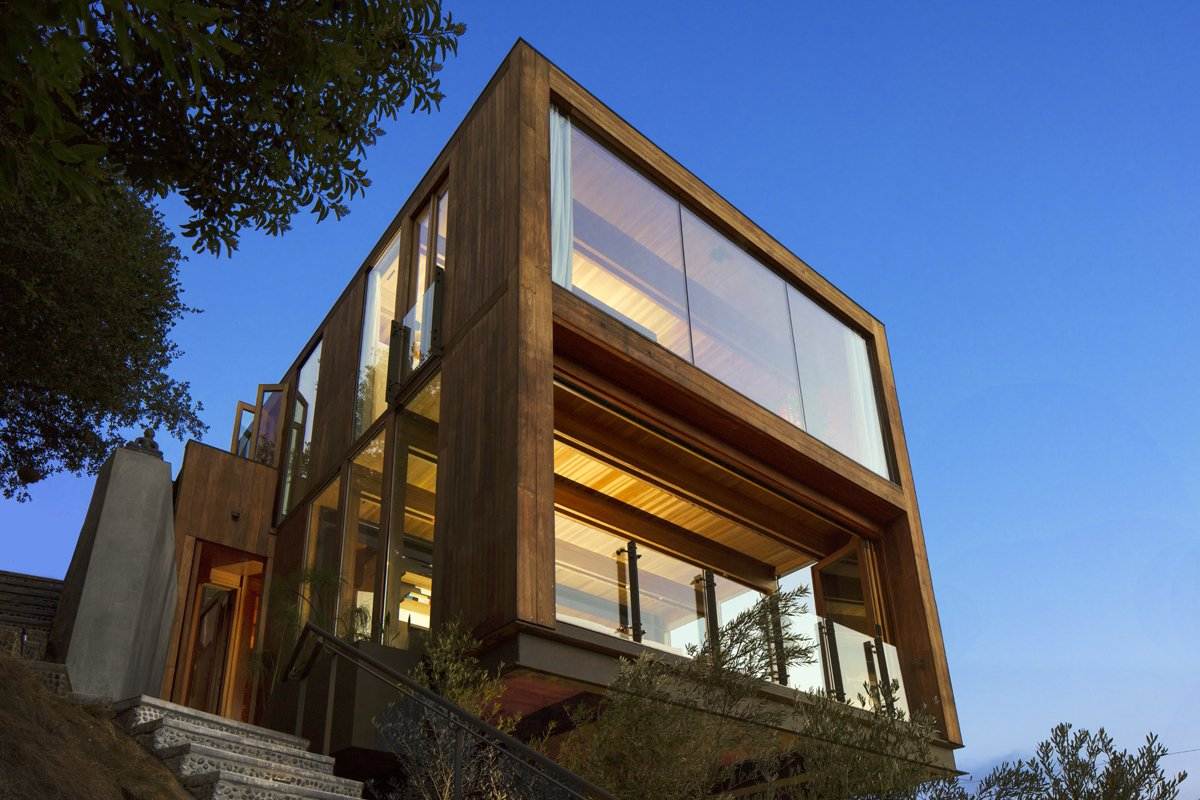 Exterior, Flat RoofLine, House Building Type, Wood Siding Material, and Glass Siding Material  Laurel Canyon Boxhouse