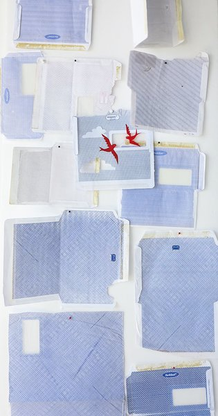 When her textile business Skinny laMinx started to take off, Cape Town designer Heather Moore fretted she'd have less time to create. Making Friday, a weekly ritual where she devotes studio hours to open-ended expression with odd materials like envelops, became her outlet. Moore chronicles these experiments on her profile.
