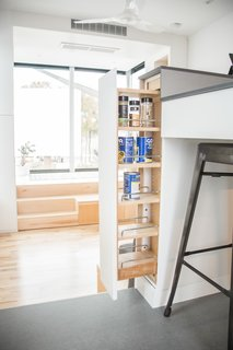 Every nook and cranny was utilized to save smartly save space and conceal clutter.