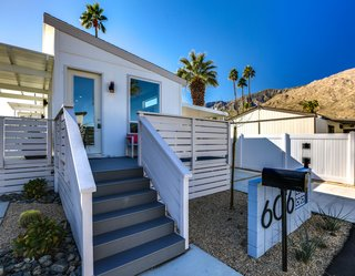 Each unit at Palm Canyon Mobile Club features decks, carports, and fenced-in yards.