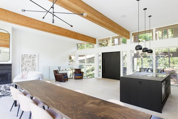 Dining, Gas Burning, Table, Light Hardwood, Chair, Ceiling, and Pendant  Best Dining Light Hardwood Chair Gas Burning Photos from Capilano House