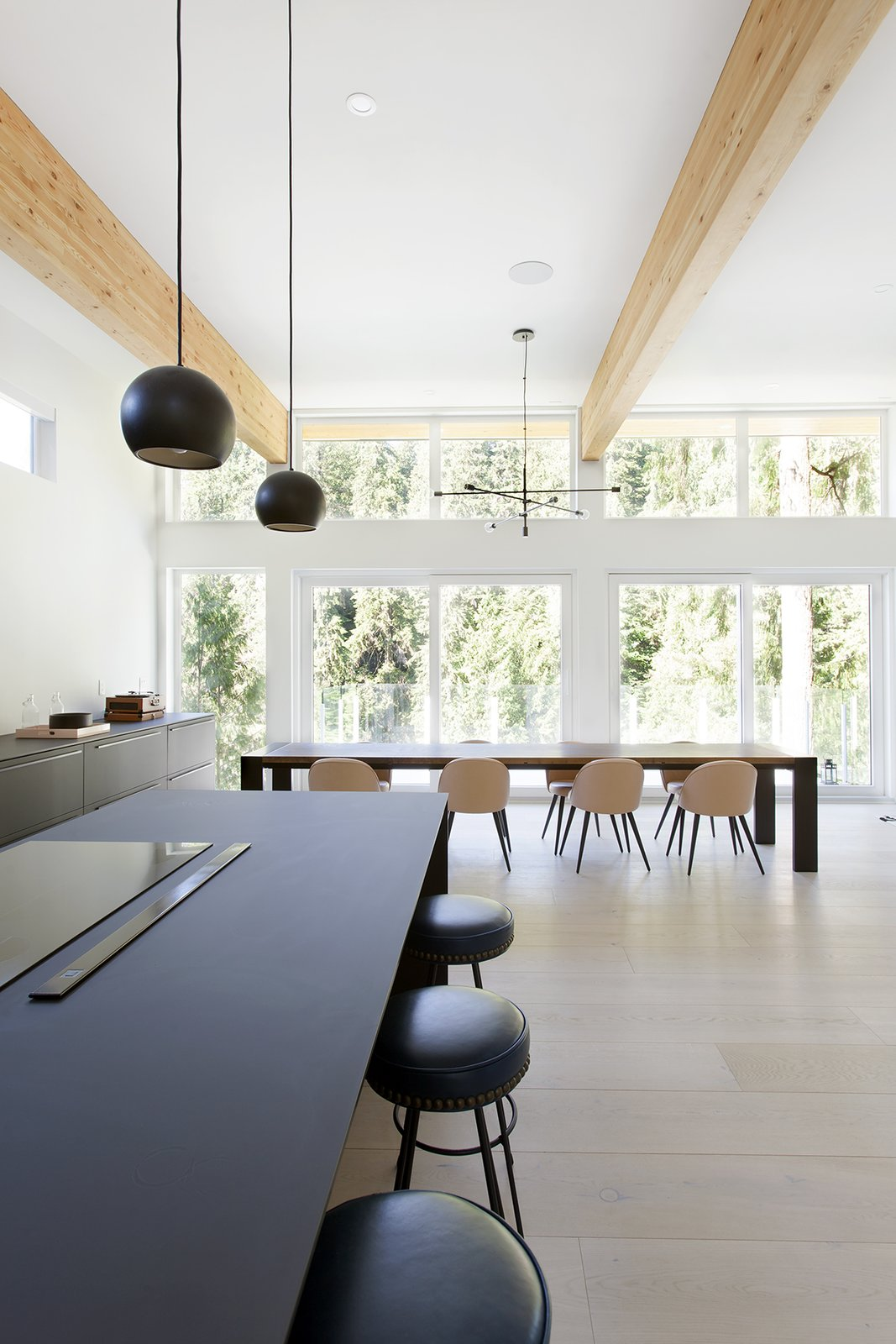 Dining, Stools, Bar, Light Hardwood, Ceiling, Storage, Table, Pendant, and Chair  Best Dining Light Hardwood Chair Table Pendant Bar Photos from Capilano House
