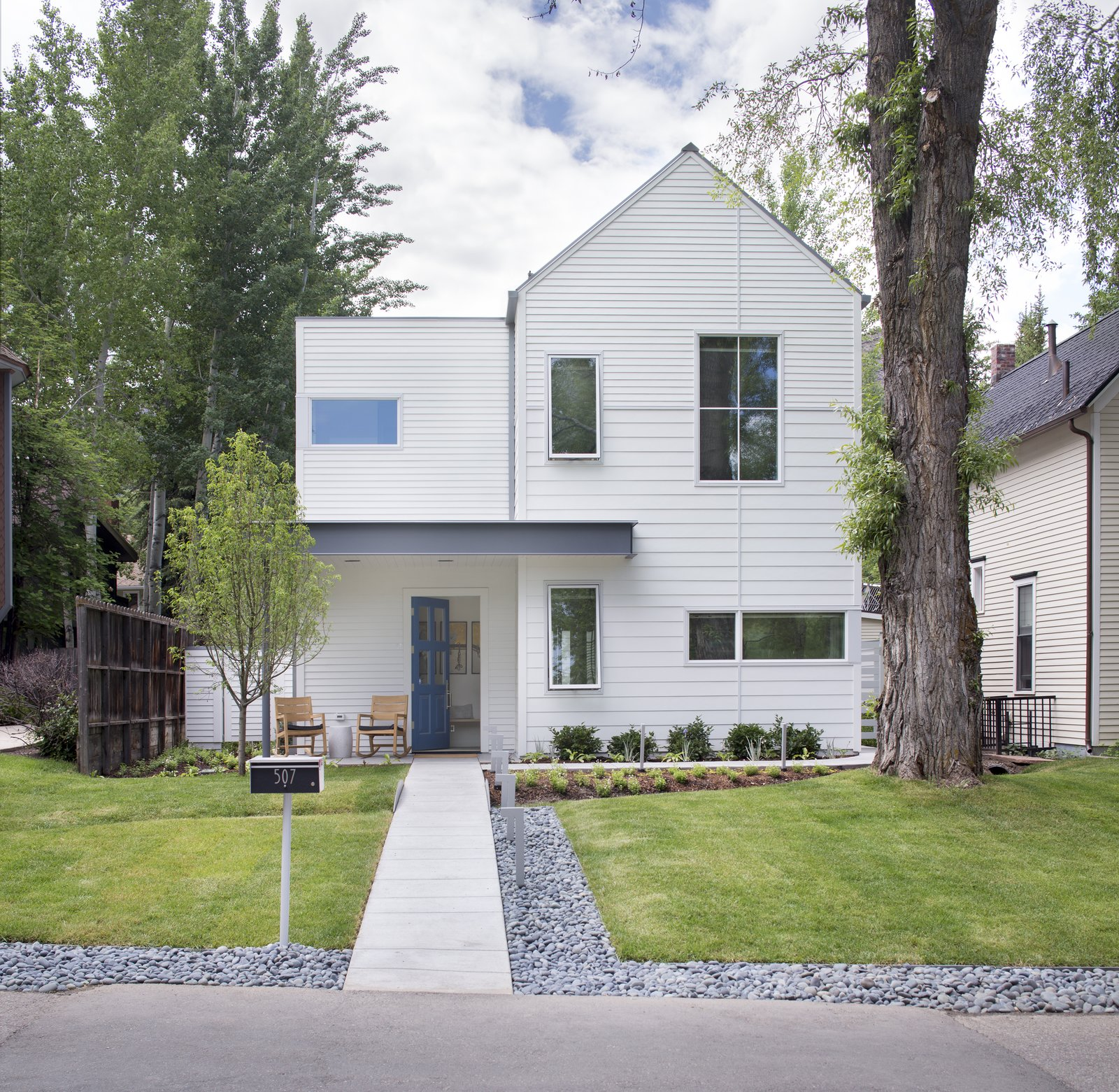 Exterior, House Building Type, Wood Siding Material, and Gable RoofLine  Game On by rowland + broughton
