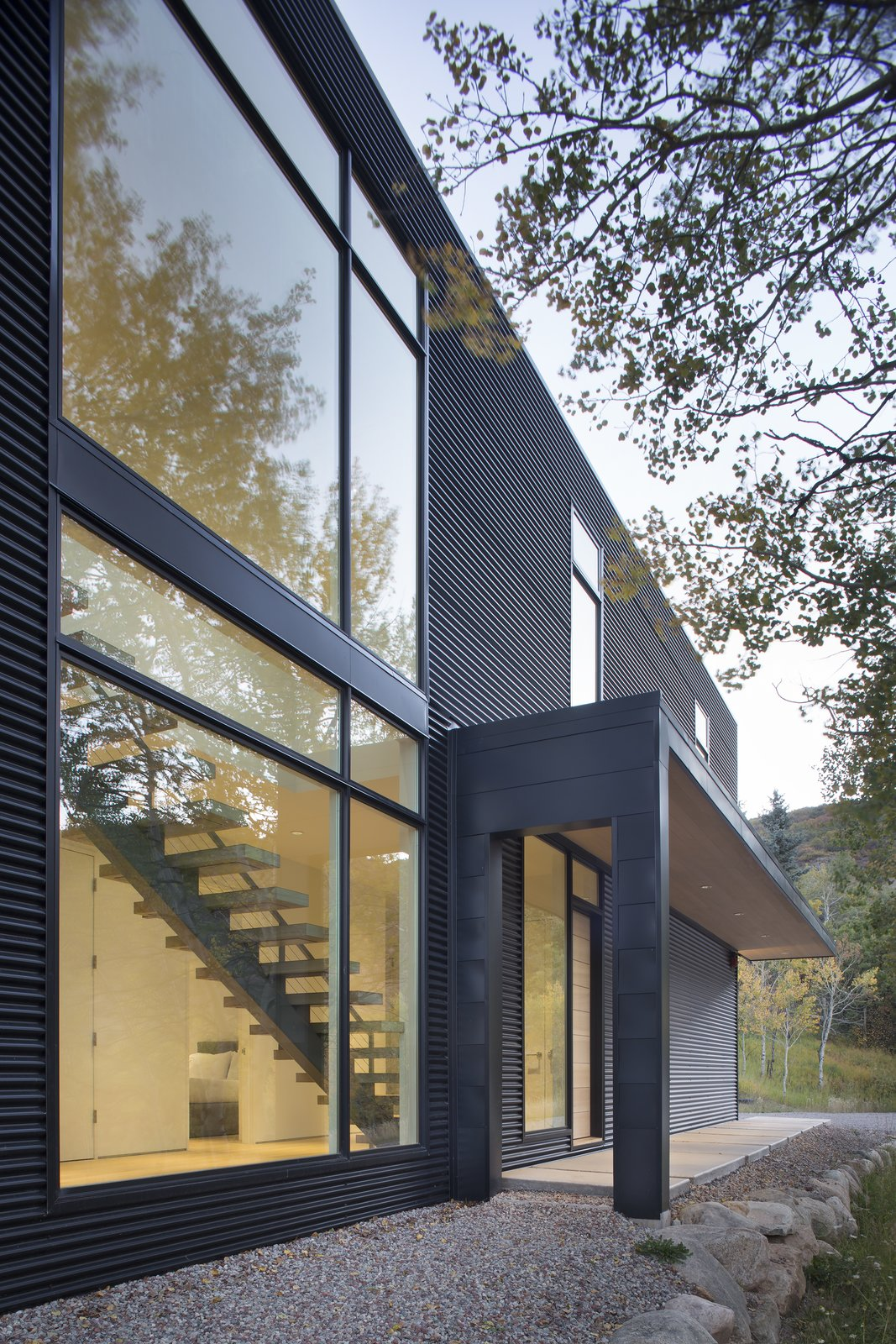 Exterior and House Building Type  Black Magic by rowland + broughton