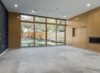 Modern home with Living Room, Concrete Floor, Recessed Lighting, and Gas Burning Fireplace. Photo 8 of Richardson House