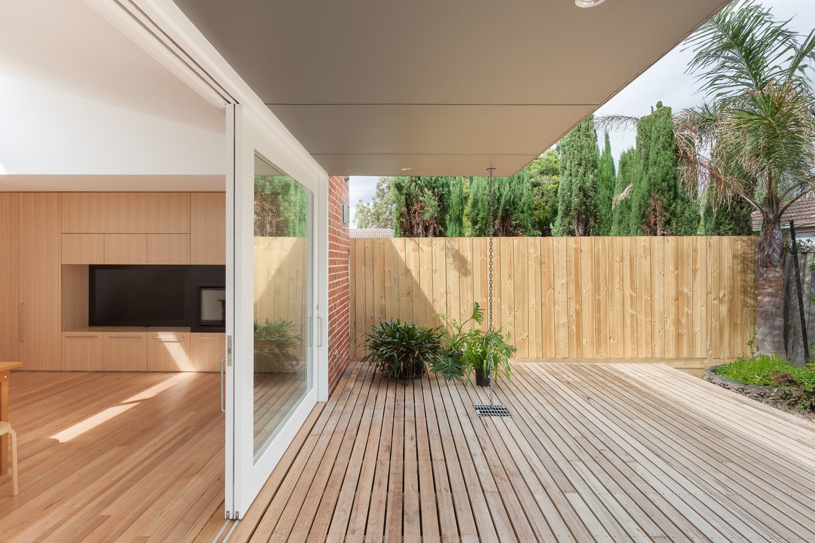 Outdoor, Hardscapes, Back Yard, and Wood Patio, Porch, Deck  Residence B&G by Open Studio Pty Ltd Architecture