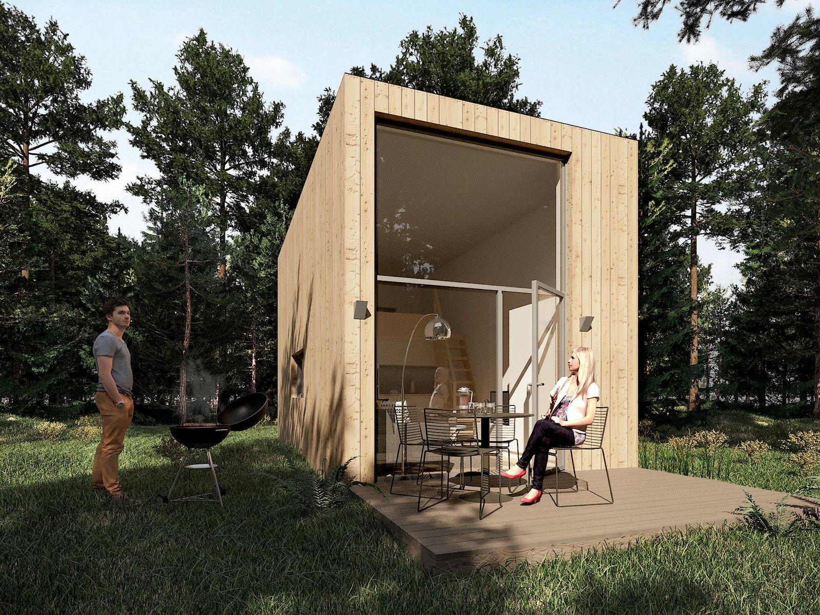 Living Room  Prefab houses in Sweden
