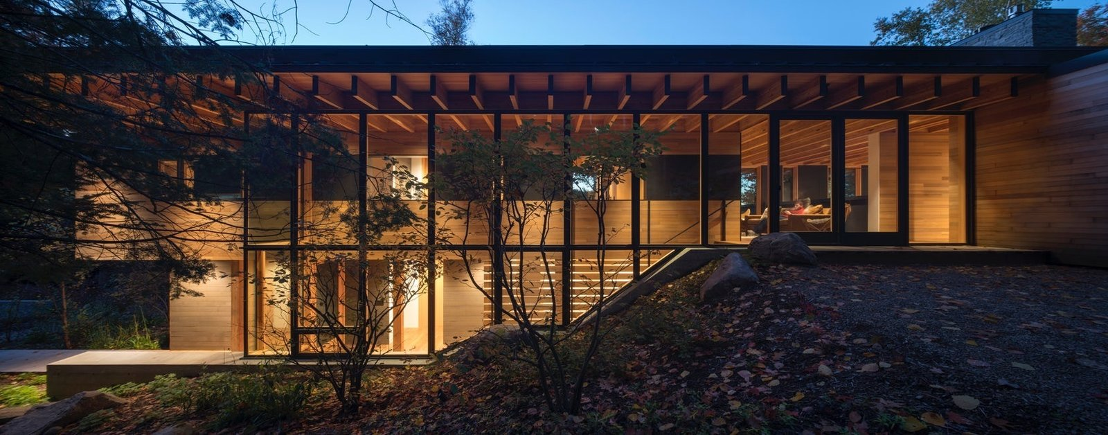 Exterior, Metal Roof Material, Flat RoofLine, Cabin Building Type, and Wood Siding Material  The Bear Stand