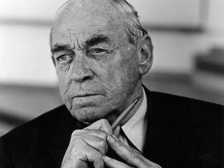 A portrait of Alvar Aalto.